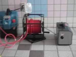 オゾン発生器剛腕とオキシアップコーティング用のコンプレッサー